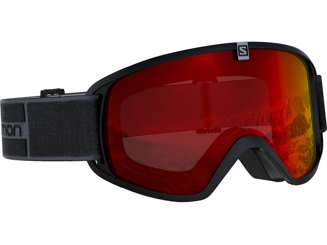 Salomon Trigger Goggles Juniors Black/Mid Red